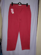 Straight Leg Cotton High Rise 30L Trousers for Women