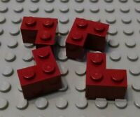 New LEGO Lot of 4 Dark Red 2x2 Corner Brick Pieces