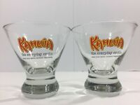 Set of 2 KAHLUA 'The Everyday Exotic' Lowball Glasses Rocks Cocktail Wide Mouth