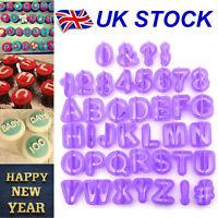 40pcs Alphabet Number Letter Fondant Cake Decorating Set Icing Cutter Mould Set