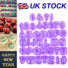 40pcs Alphabet Number Letter Fondant Cake Decorating Set Icing Cutter Mould Set