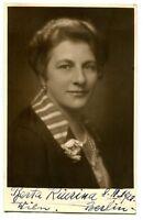 BERTA KIURINA - orig. Autogramm - 1928 - beidseitig signiert - autograph, signed