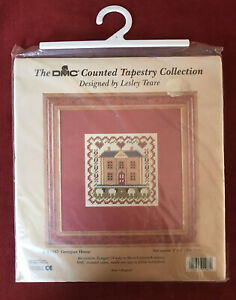 Vintage DMC Counted Tapestry Collection Kit Georgian House 10x10cm