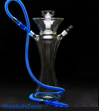 TALL CLEAR ALL GLASS HOOKAH SHISHA HARD CASE UP TO 4 HOSE + EXTRA ACCESSORIES