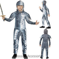 CK834 Medieval Armour Knight Boys Crusader Warrior Fancy Dress Costume Book Week