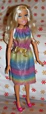 Barbie's  my size 28 inch rainbow sparkly  DRESS