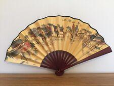1x Chinese Silk Folding Hand Held bamboo Fan Party Dance Mediem