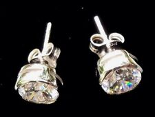 14K White Gold Stud Desert Diamond Earring Set 1 CT Brilliant Natural Simulant!