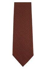 Tom Ford 100% Silk Neck-Tie Brown Geometric