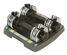 ProForm Adjustable Dumbbells w Tray Space Saver 25Lb Total 12.5Lb Each