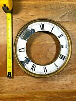 Old Porcelain Regulator Clock Chapter Ring/Trim Ring and Mounting Feet (K1330)