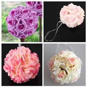 15x21cm Silk Rose Pomander Flower Kissing Ball Wedding Party Home Decoration US