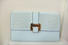 AUTH Rebecca Minkoff CoCo Clutch With Studs Bag in Light Blue NWT