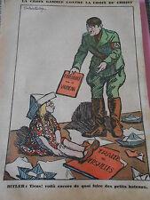 La Croix Gammée Hitler de quoi faire des petits bateaux dessin Print 1935