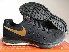 NIKE AIR ZOOM PEGASUS 33 LE BG BLACK-METALLIC GOLD SZ 11.5 [880103-007]