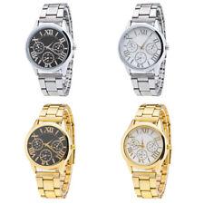 New Fashion Women Gold Stainless Steel Band Analog Quartz Wrist Watch Unisex