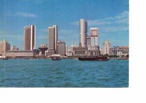 VINTAGE postcard: SINGAPORE WATERFRONT & CLIFFORD PIER 1978