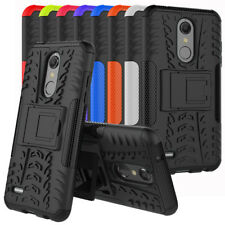 For LG K30 (T-Mobile) Case Rugged Armor Rubber Defender Kickstand Phone Cover