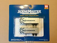 WALTHERS 1/87 HO SCALE  BALTIMORE & OHIO 32' TRAILERS 2-PACK ITEM # 949-2369 F/S