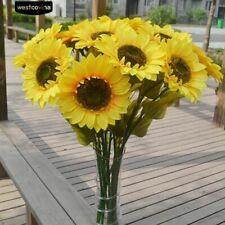Large Wedding Single Floor Artificial Flower Home Decoration Bouquet  Sunflower