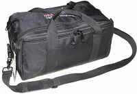 USA GunClub Handgun Pistol Range Bag with Removable Hook and Loop Dividers