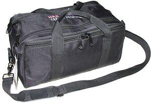 USA GunClub Handgun Pistol Range Bag with Removable Hook and Loop Dividers