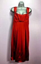 Calvin Klein 1106 Woman's Red Dress Knee length Comfortable Zip Up Size 12