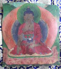 Antique Old Hand Painted Bhutan Buddha Thanka, Nepal