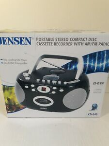 Jensen CD-540 CD/Radio/Cassette Boombox, New in Box