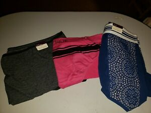 """Lot of 3- Lane Bryant Panties Plus Size 26/28 """"Full Brief, hipster """"Cacique"""""""