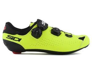 Sidi Genius 10 Road Shoes (Black/Flo Yellow)
