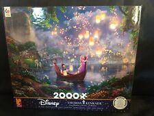 "NEW Sealed Disney Thomas Kinkade Puzzle Tangled Rapunzel 2000 Pieces 38"" X 26"""