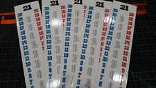 Set of 5 Cornhole Scoreboard Score Keeper - Red White & Silver