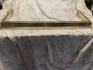 antique brass fire fender
