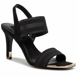 🔥NEW! DKNY Bryson Textured Elastic Black Slingback Heel Women $120 MSRP🔥