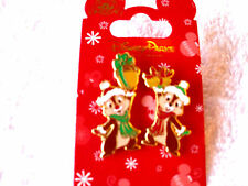 Disney * CHIP & DALE w/ SANTA HATS & SCARVES * 2 Pin Holiday Set