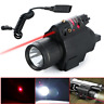 Combo Tactical LED Flashlight Green/RED Laser Sight Fit 20mm Rail Pistol Rifle