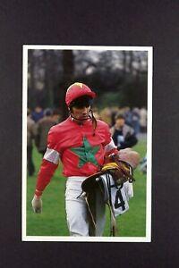 1 x card BBC Question of Sport 1991 Peter Scudamore Jokey Horse Racing