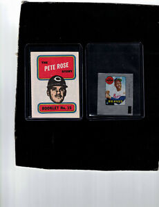 1969 TOPPS   PETE ROSE STORY BOOKLET #15  &  HANK AARON  DECAL   NEAR MINT
