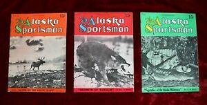 (3) 1935 The Alaska Sportsman Magazines, Volume 1, Nos. 2, 3 & 4 - Super Rare!!