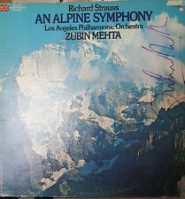 *SIGNED* ZUBIN MEHTA ALBUM LP STRAUSS - ALPINE SYMPHONY LOS ANGELES PHILHARMONIC