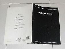 Spartiti Songbook RENATO ZERO Amore dopo amore Tour dopo tour Vocal chords 1998
