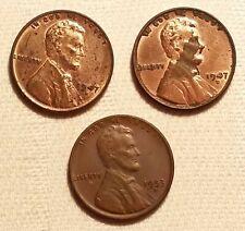 3x One Cent États-unis Of America E Pluribus Unum 1953 D 1947 D Liberty (35)