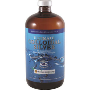 Ultimate Colloidal Silver 50ppm 50 PPM 1ltr-Greater Price