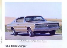 1966 Dodge Charger Hemi fastback coupe 426 ci Info/Specs/photo/production 11x8