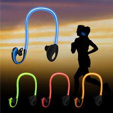 Wireless Sport Headphone LED Light Flashing Glowing Headset Earphone