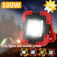 100W USB Rechargeable Solar LED COB Work Light Camping Emergency Lamp.Floodlight
