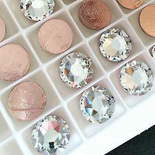 SWAROVSKI CRYSTAL CLEAR HOTFIX 12 x SS48 rhinestones diamantes huge iron on flat