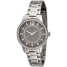 JOBO Damen Armbanduhr Quarz Analog Titan mit SWAROVSKI® ELEMENTS Damenuhr Datum