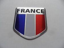 France 3D Aluminium Car Sticker Drapeau Autocollant Voiture Emblème Blason Badge